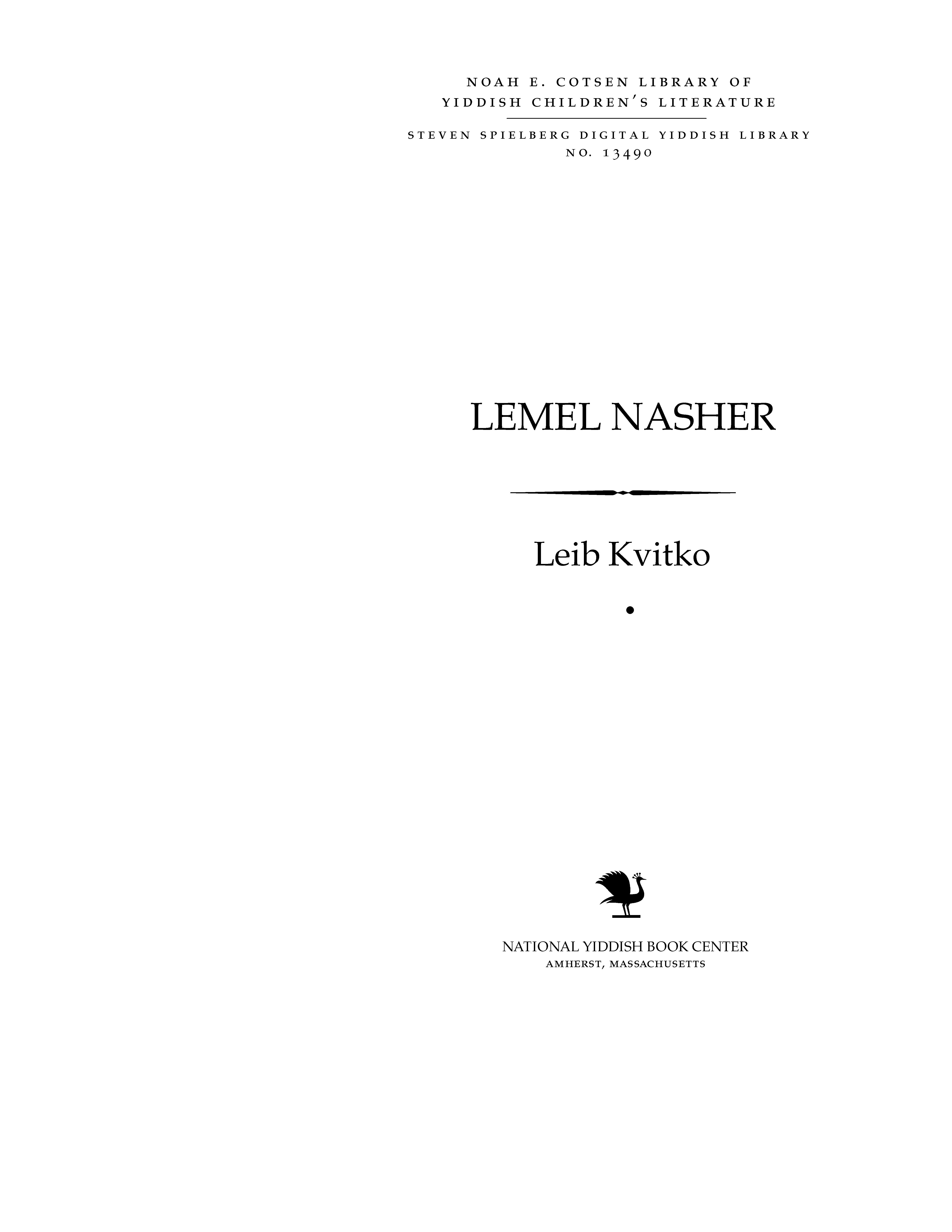 Cover of: Leml nasher