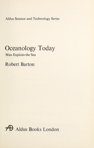 Cover of: Oceanology Today | Barton